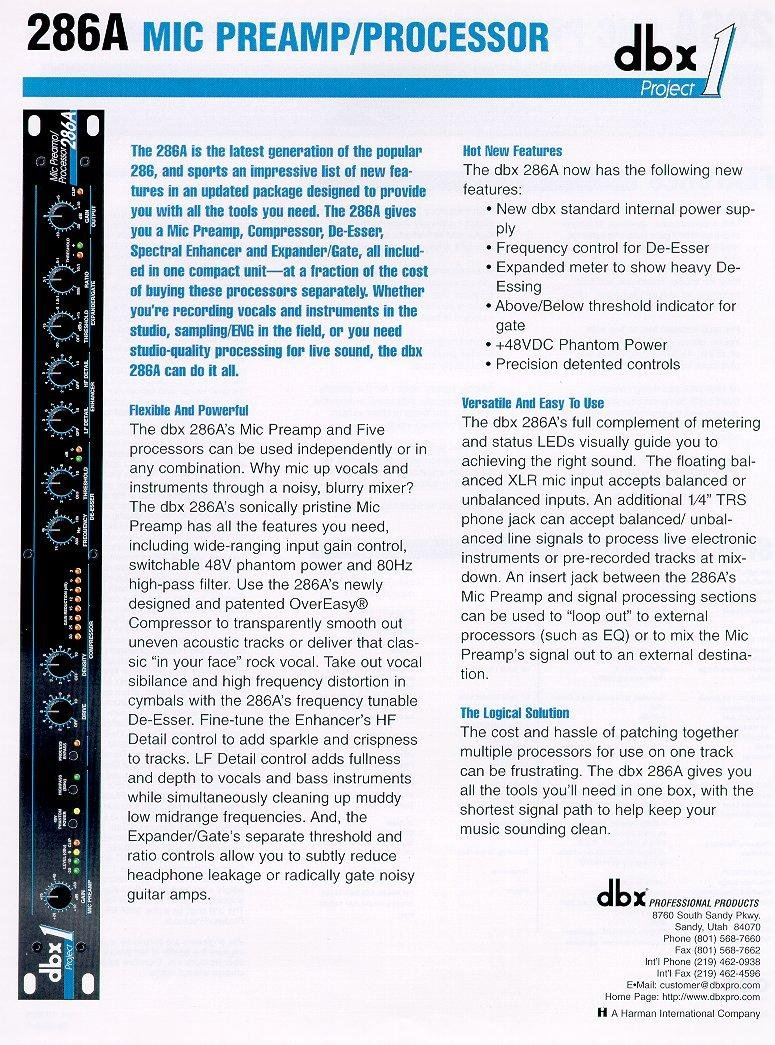 Dbx 1231: DBX Catalog Presented By Full Compass Systems Systems