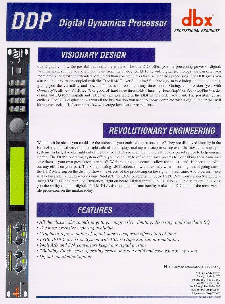 Dbx 1231: DBX Catalog Presented By Full Compass Systems