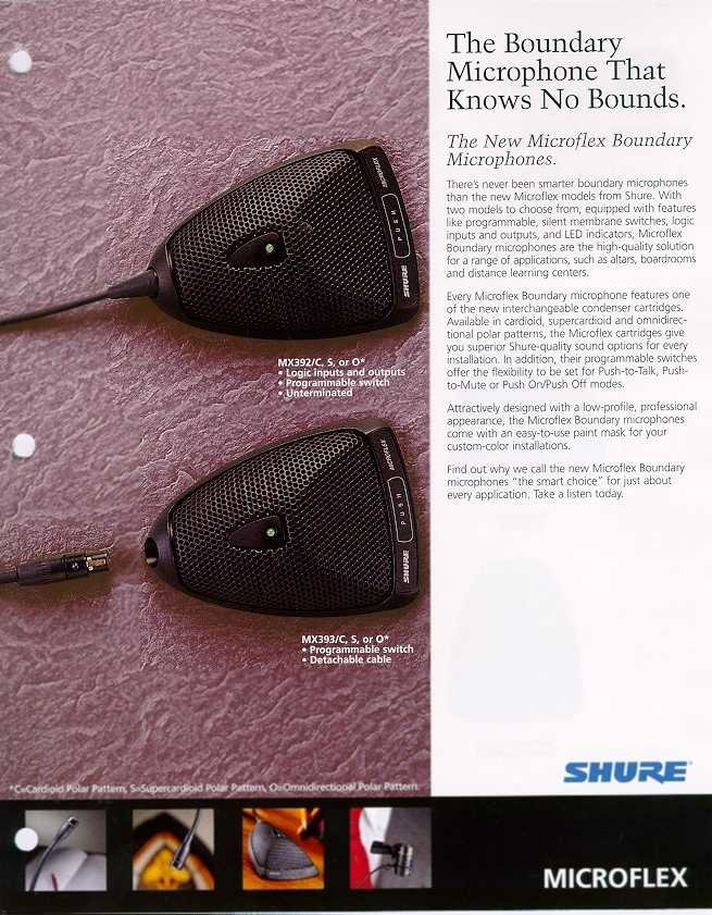 Shure Mx393 O Microflex Omnidirectional Boundary Microphone With 12 Ft 3 Pin Xlr Cable