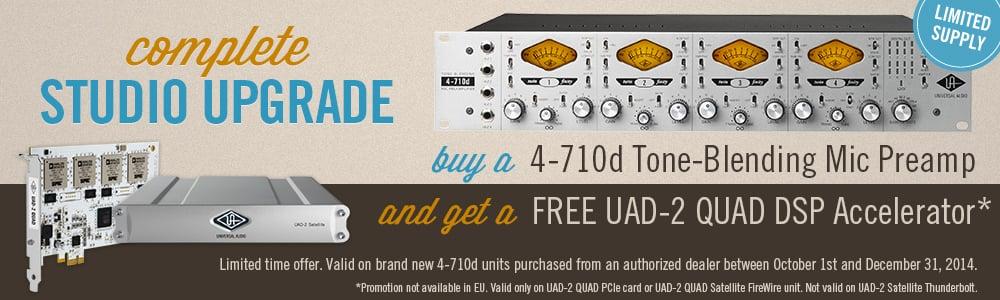 Universal Audio 4-710d FREE UAD-2 QUAD Offer