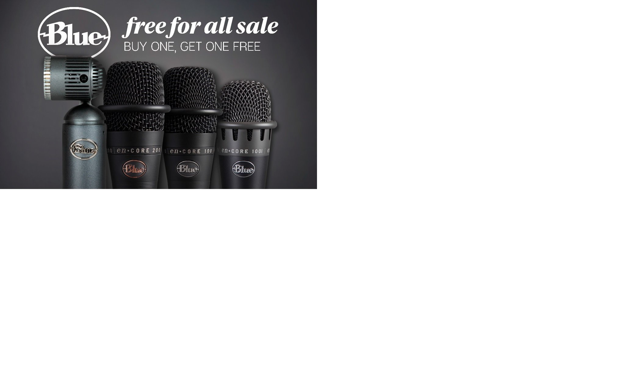 Blue Microphones enCORE Or Hummingbird Buy One Get One Free Offer