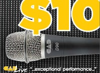 CAD Audio CADLive D89 & D90 Microphones Mail-In Rebate Offer