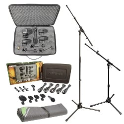 Shure PGA DRUMKIT5 Pack Full Compass Exclusive Bundle Offer