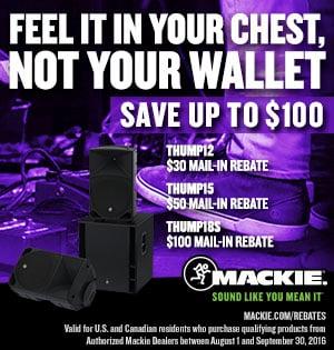 Mackie Thump Series PA Speakers Mail-In Rebate Offer