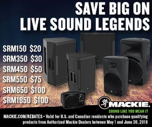 Mackie SRM Series PA Speakers Mail-In Rebate Offer