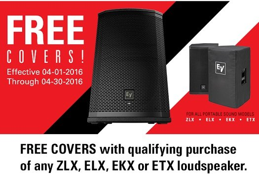 Electro-Voice Free Speaker Cover Offer