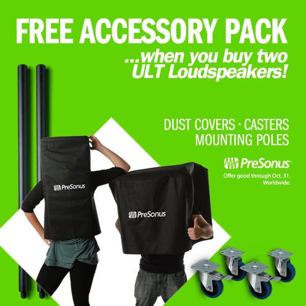 PreSonus ULT Free Accessory Pack Offer.