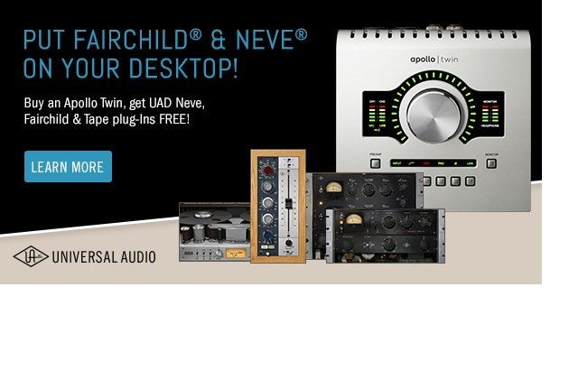 Universal Audio Apollo Twin Solo Free UAD Plugin Bundle Offer