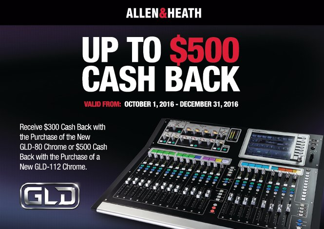 Allen & Heath GLD 80 Chrome Online Rebate Offer