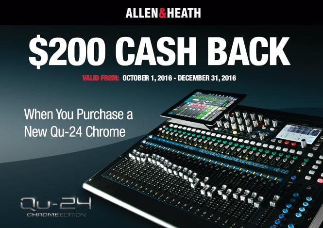 Allen & Heath QU 24 Chrome Online Rebate Offer