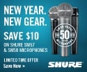Shure SM57 And SM58 Holiday Mail-In Rebate