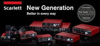 Focusrite Scarlett 2nd Generation FREE Pro Tools | First Focusrite Creative Pack Offer.