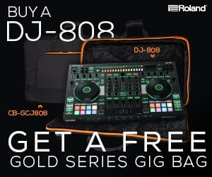 Roland DJ-808 Free Gold Series Bag Offer