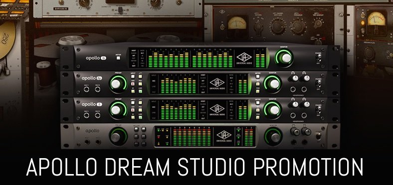 Universal Audio Apollo Free Dream Studio 3 Plugin Bundle Offer