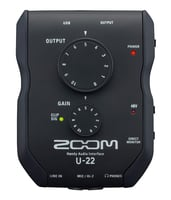 Zoom U-22 Mobile 2x2 USB Recording Interface Insatnt Rebate