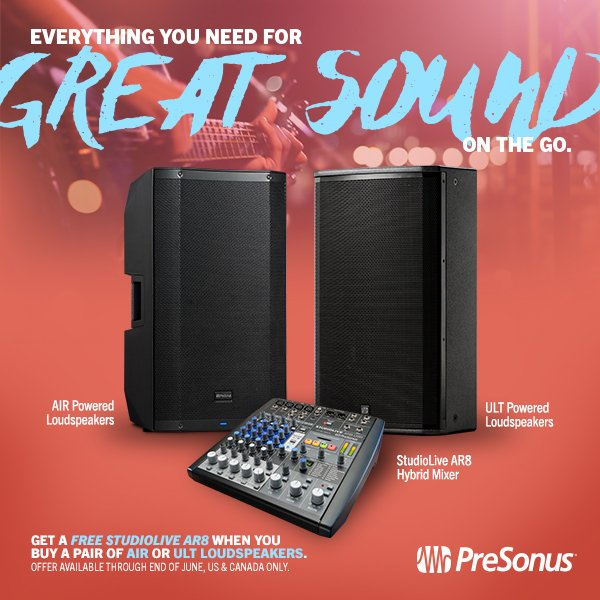 PreSonus Free AR8 Hybrid Mixer Offer
