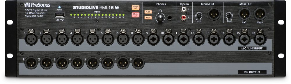 PreSonus RML16AI 16 Channel Rack Mount Digital Mixer Instant Rebate