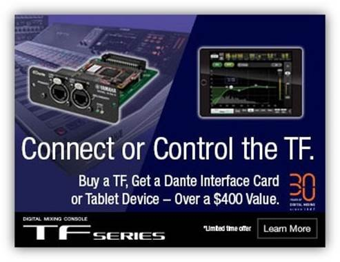 Yamaha TF Series Free Control Or Connect Offer