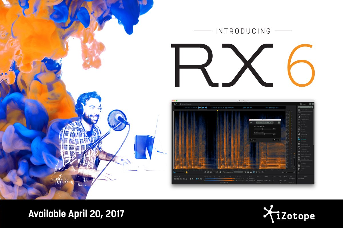 iZotope RX6 Upgrade From RX 1-5 Instant Rebate