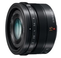 Panasonic H-X015K Lumix G Leica 15mm F1.7 ASPH Lens Instant Rebate