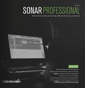 Cakewalk Sonar Professional Recording Software Free Pro Channel Pack Offer.