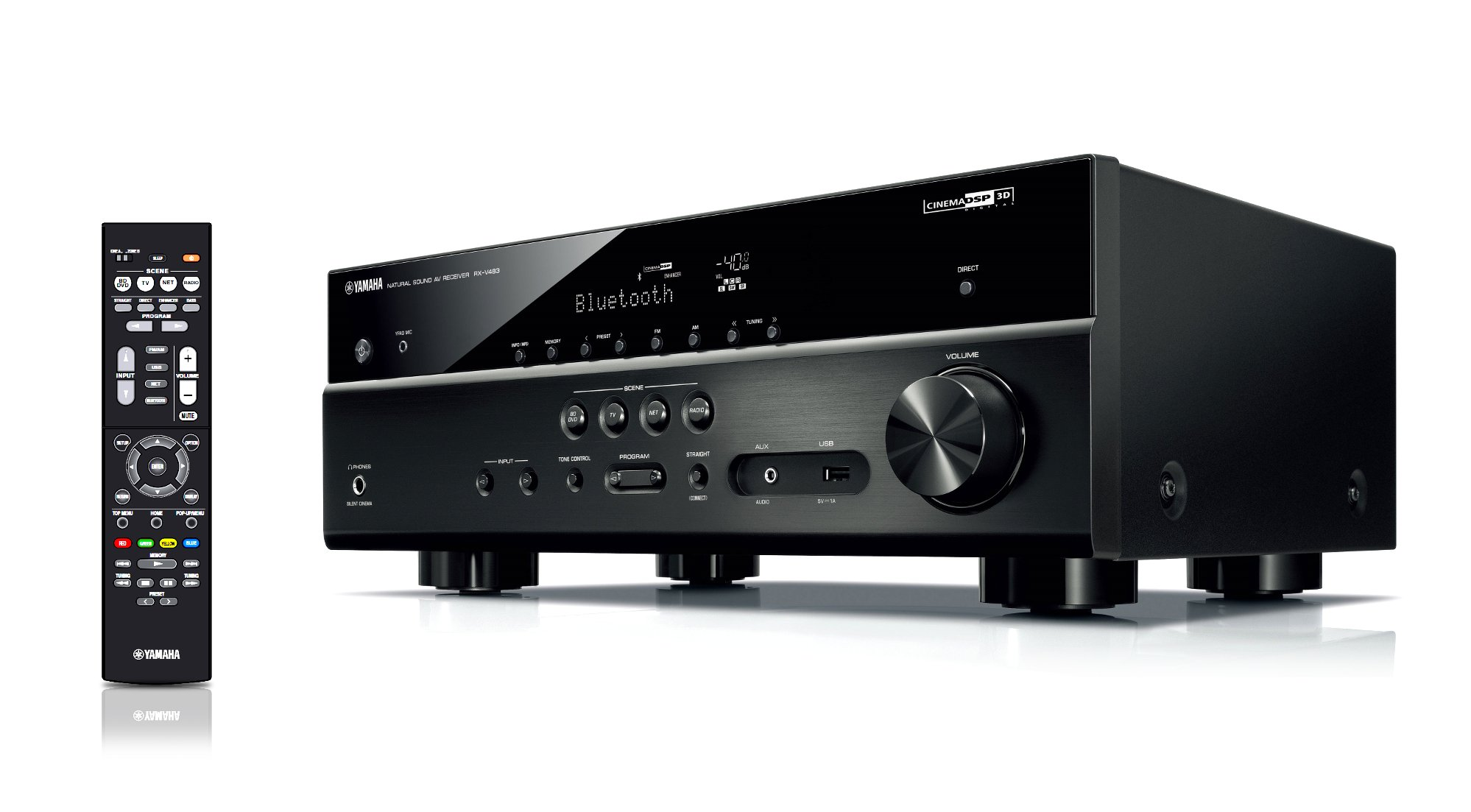 Yamaha RX-V483 5.1-Channel 4K Ultra HD Receiver Instant Rebate