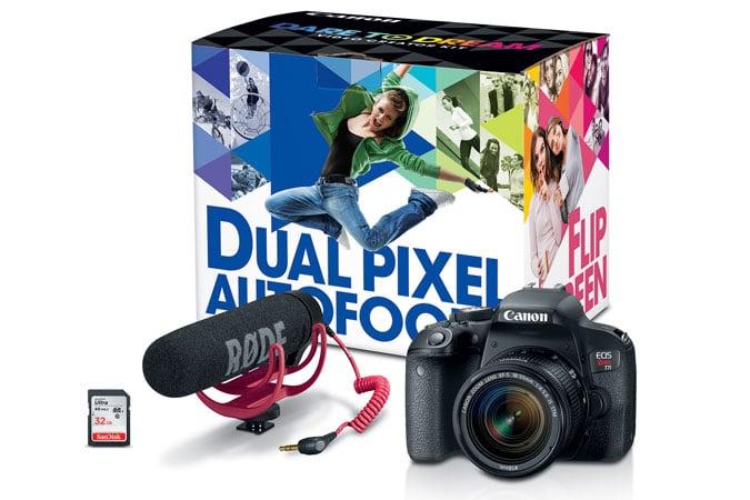 Canon EOS Rebel T7i Video Creator Kit Instant Rebate