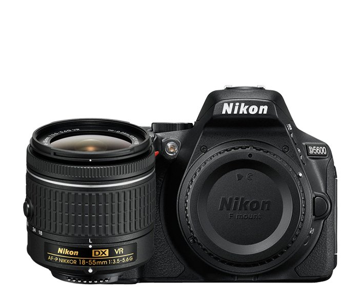 Nikon 1576 D5600 DSLR With AF-P DX 18-55 VR Lens Instant Rebate