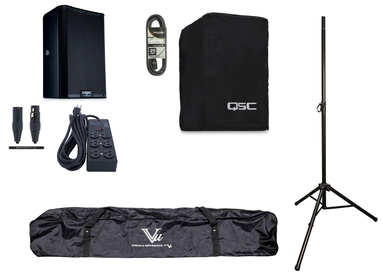 QSC K8.2 Single K Active Speaker Exclusive Bundle