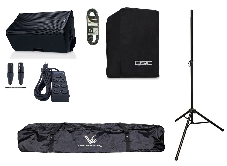 QSC K10.2 Single K Active Speaker Exclusive Bundle