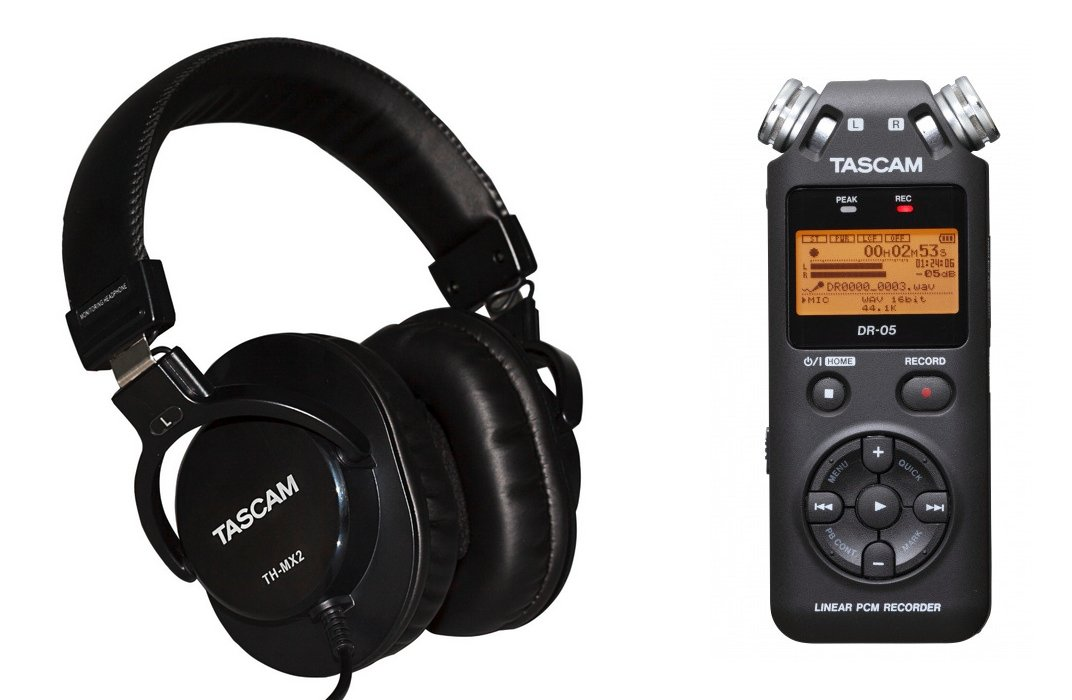 Tascam DR 05 Recorder And Headphones Exclusive Bundle