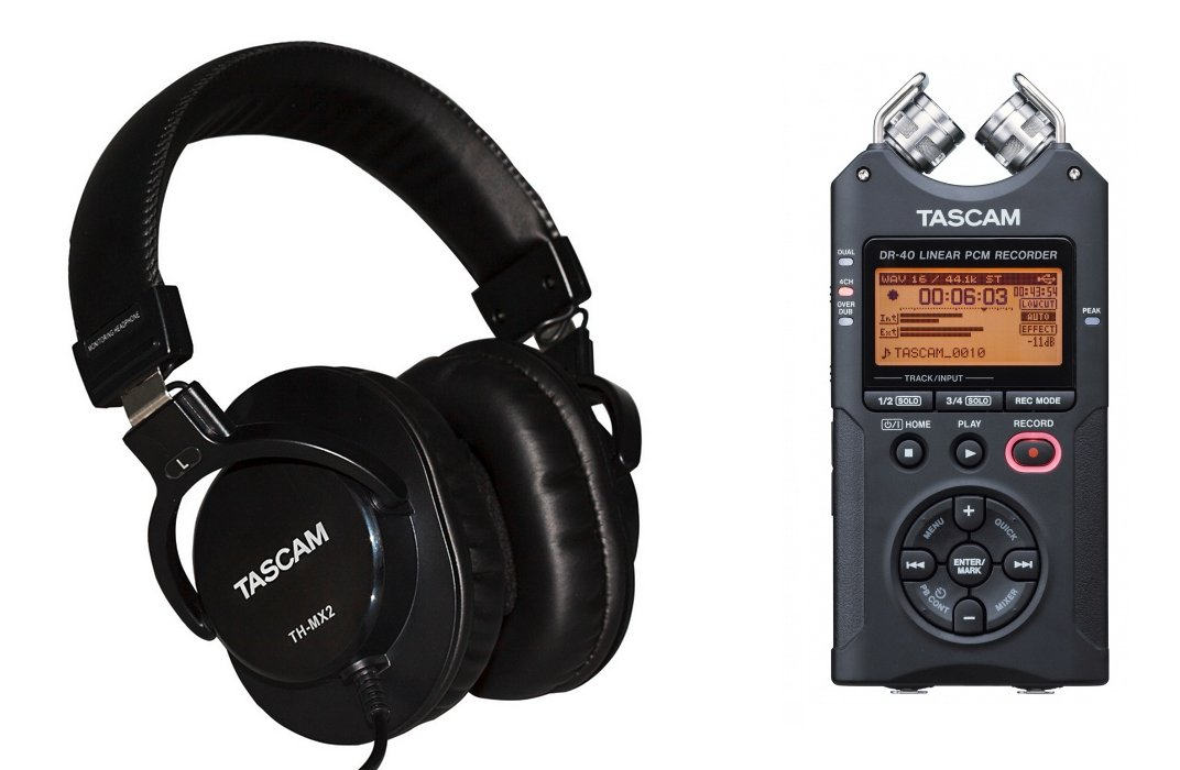 Tascam DR 40 Recorder And Headphones Exclusive Bundle