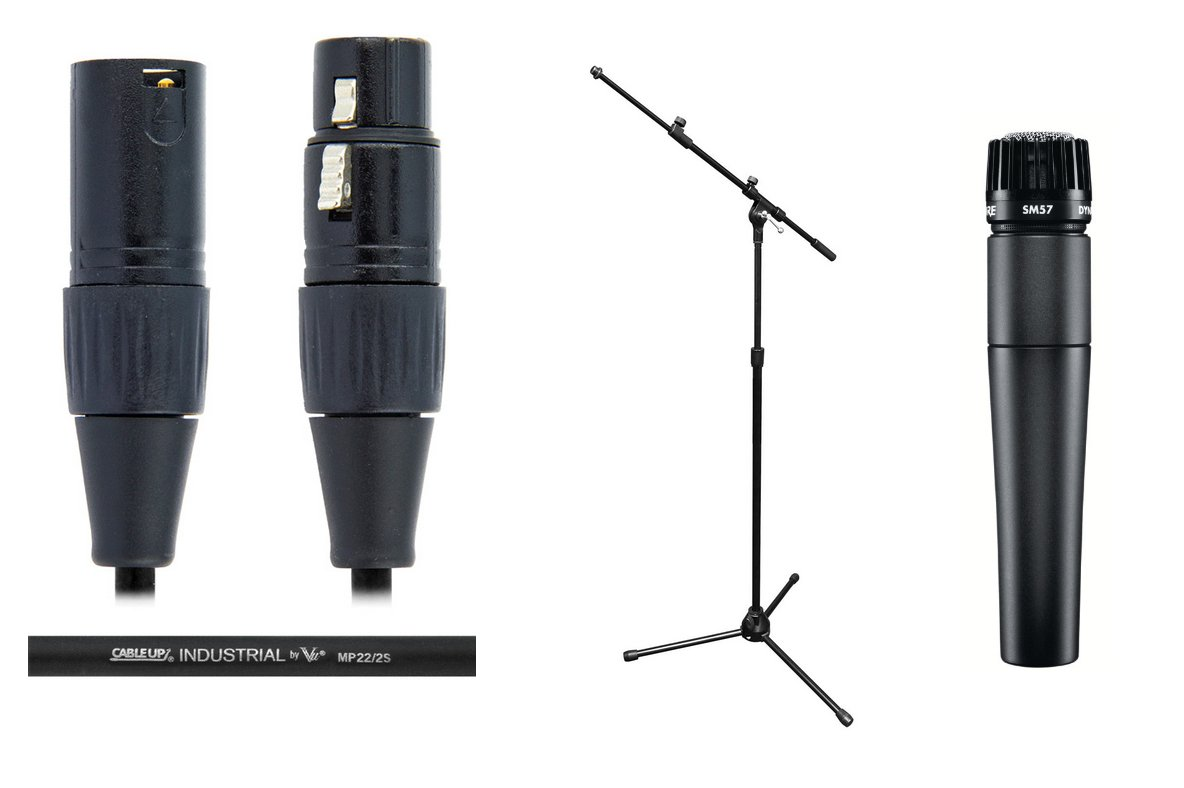 Shure SM57LC Solo Microphone Exclusive Bundle