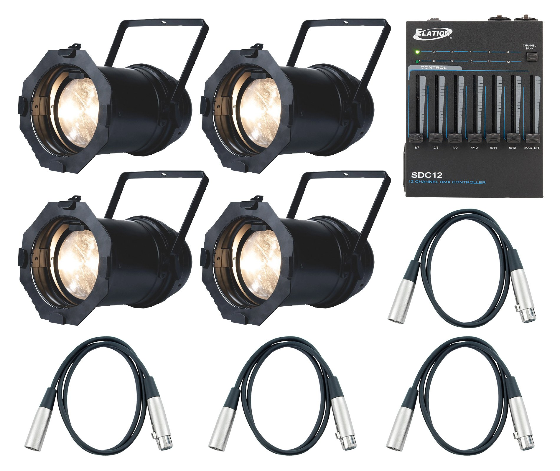 Led 4 Par Package With Controller And Dmx Cables By Adj Z100 3k Light Circuit Board Buy Boardled American Dj Exclusive Bundle