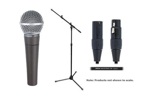 Shure SM58LC Solo Microphone Exclusive Bundle