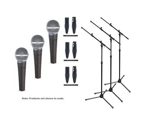 Shure SM58LC Trio Microphone Exclusive Bundle