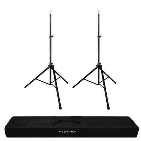 Ultimate Support Speaker Stands And Bag Exclusive Bundle