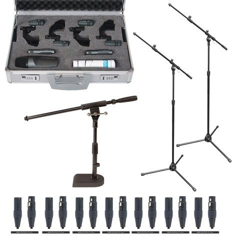 Sennheiser Drumkit 600 Exclusive Bundle With Stands And Cables