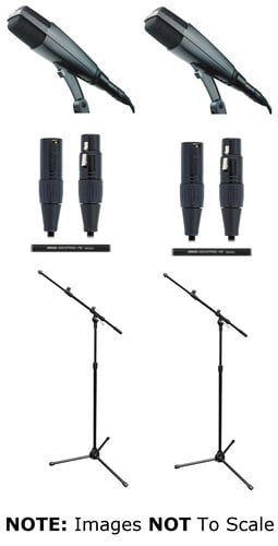 Sennheiser MD421 II Duo Exclusive Bundle With Stands And Cables
