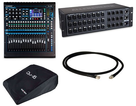 Allen & Heath QU 16C Digital Mixer Exclusive Bundle