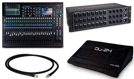 Allen & Heath QU 24C Digital Mixer Exclusive Bundle
