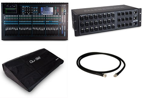 Allen & Heath QU 32C Digital Mixer Exclusive Bundle