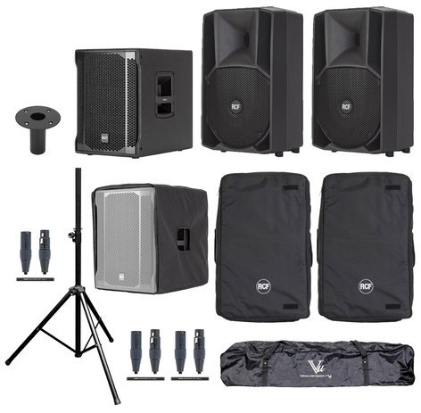 RCF ART-708A-SUB Exclusive Speaker System Bundle
