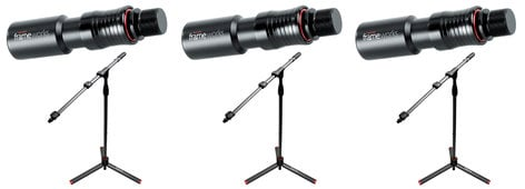 Gator GFW ID Mic Stand 3 Pack Exclusive Bundle