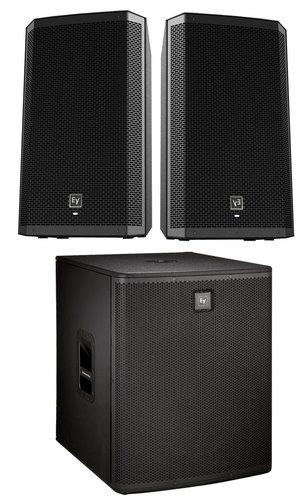 EV ZLX-15P Dual Active Speaker With Subwoofer Exclusive Bundle