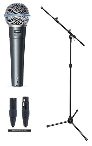 Shure Beta 58A Solo Microphone Exclusive Bundle