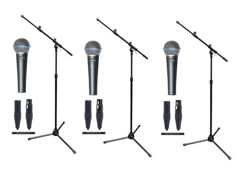 Shure Beta 58A Trio Microphone Exclusive Bundle