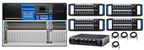 PreSonus Studiolive-32-AVB3 FOH Mixer With Ethernet Switch And Stage Boxes Exclusive Bundle