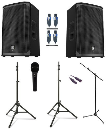 EV EKX-12 Dual 3 Passive Speaker Exclusive Bundle