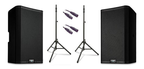 QSC K10.2 Dual 2 K Active Speaker Exclusive Bundle